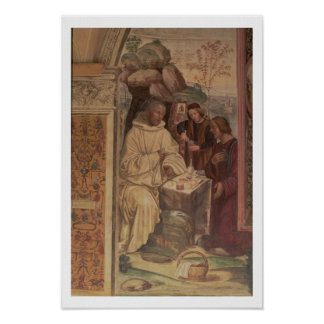 St. Benedict against a  Landscape, from the Life o Poster