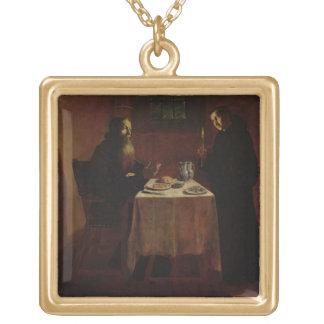 St. Benedict Blessing St. Maur Square Pendant Necklace