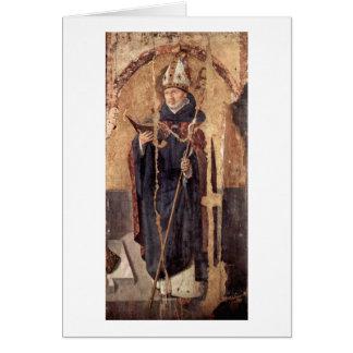 St. Benedict By Antonello Da Messina Greeting Card