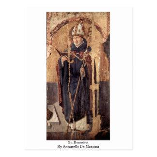 St. Benedict By Antonello Da Messina Post Cards