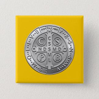 St Benedict Cross Medal Button