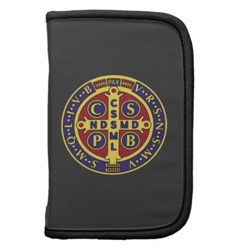 St. Benedict Cross red blue yellow planner
