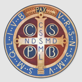 St Benedict Exorcism Medal Stickers
