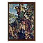 St. Benedict In Prayer By Meister Von Meßkirch (Be Greeting Card