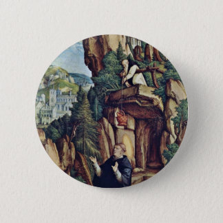 St. Benedict In Prayer By Meister Von Meßkirch (Be Pinback Button