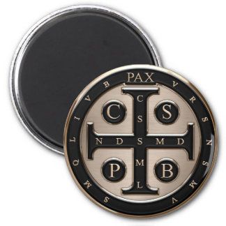 St. Benedict Medal 2 Inch Round Magnet