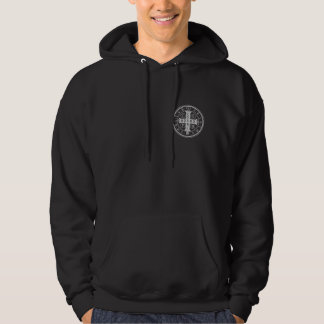 St. Benedict Medal Black Hooded Sweatshirt