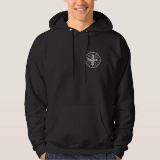 St. Benedict Medal Black Hooded Sweatshirt