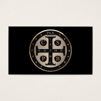 St. Benedict Medal Business Card
