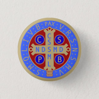St. Benedict Medal Buttons, All Sizes & Shapes Pinback Button
