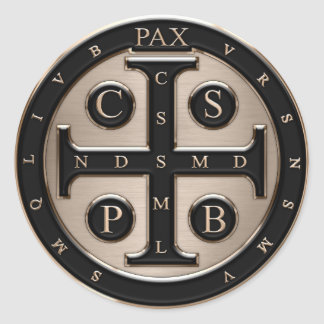 St. Benedict Medal Classic Round Sticker