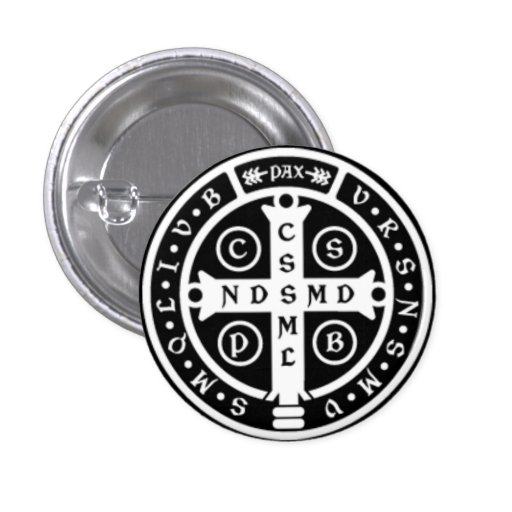 St. Benedict Medal Cross Buttons