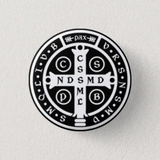 St. Benedict Medal Cross Pinback Button