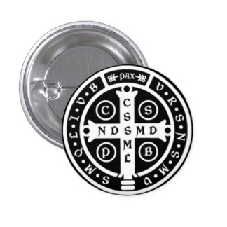 St. Benedict Medal Cross Pinback Button