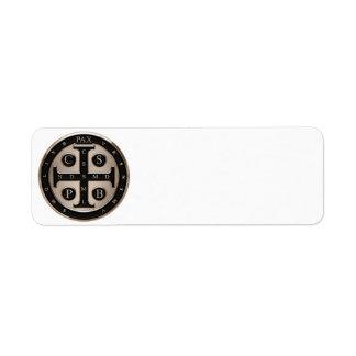 St. Benedict Medal Label