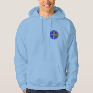 St. Benedict Medal on Any Color Hooded Sweatshirt