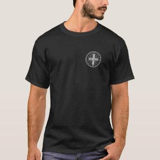 St. Benedict Medal on Black Shirt