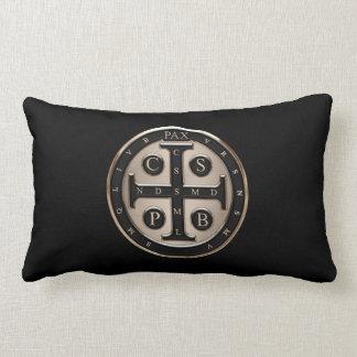 St. Benedict Medal Throw Pillows
