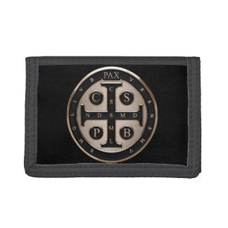 St. Benedict Medal Tri-fold Wallets