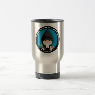 St Benedict of Nursia 15 Oz Stainless Steel Travel Mug