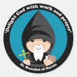St Benedict of Nursia Classic Round Sticker