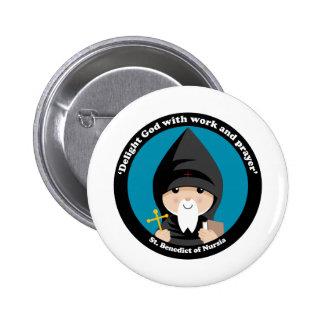 St Benedict of Nursia Pinback Button