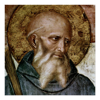 St. Benedict of Nursia Poster