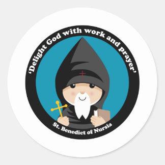 St Benedict of Nursia Stickers