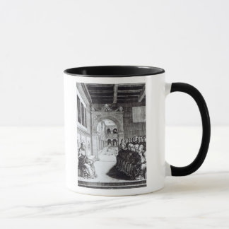 St. Benedict Preaching in the Monastery Mug