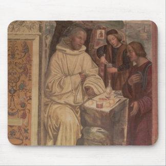 St. Benedicto contra un paisaje, a partir de la vi Mousepad