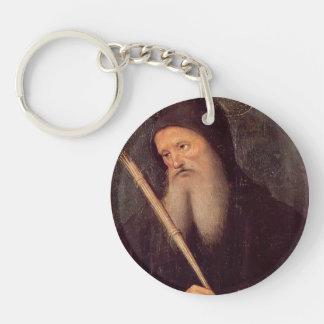 St. Benedicto de Pedro Perugino- Llavero Redondo Acrílico A Una Cara