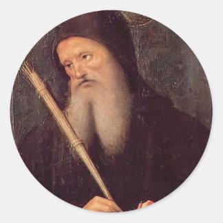 St. Benedicto de Pedro Perugino- Pegatina Redonda