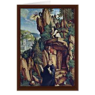 St. Benedicto en rezo de Meister Von Meßkirch (sea Tarjeta De Felicitación