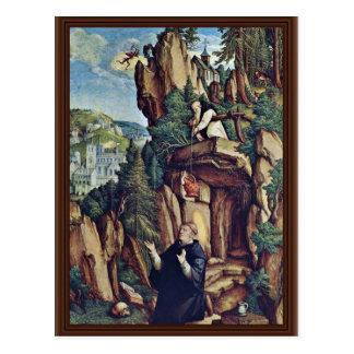St. Benedicto en rezo de Meister Von Meßkirch (sea Tarjeta Postal