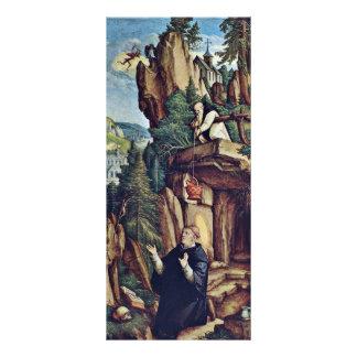 St. Benedicto en rezo de Meister Von Meßkirch (sea Diseño De Tarjeta Publicitaria