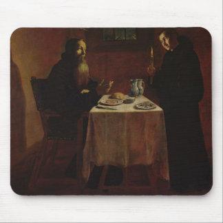 St. Benedicto que bendice St. Maur Alfombrillas De Raton
