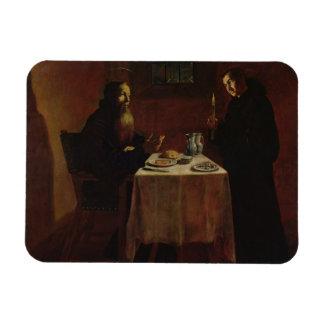 St. Benedicto que bendice St. Maur Iman De Vinilo