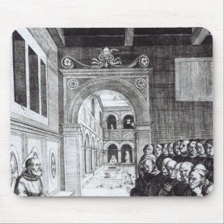 St. Benedicto que predica en el monasterio Mouse Pads
