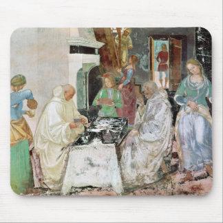 St. Benedicto que recibe hospitalidad Tapete De Ratones
