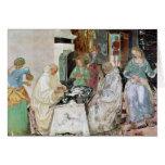 St. Benedicto que recibe hospitalidad Tarjeton