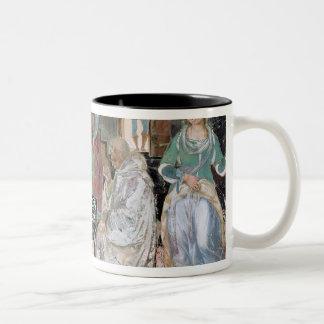 St. Benedicto que recibe hospitalidad Taza De Dos Tonos