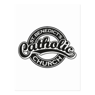 St. Benedict's Catholic Church black and white Postcard