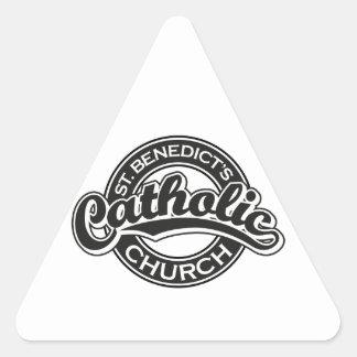 St. Benedict's Catholic Church black and white Triangle Sticker