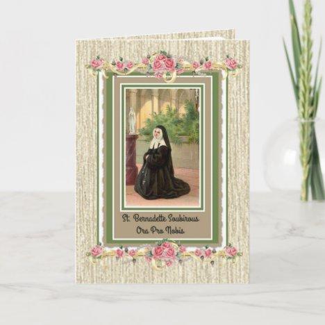 St. Bernadette Catholic Religious Saint Nun Card