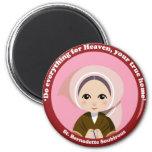 St. Bernadette Soubirous Imán Redondo 5 Cm