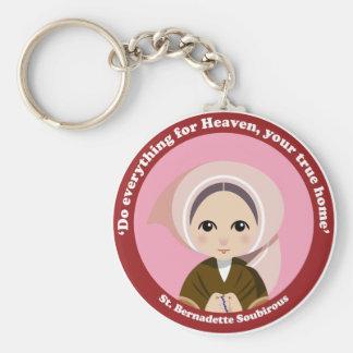 St. Bernadette Soubirous Llavero Redondo Tipo Pin