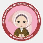 St. Bernadette Soubirous Pegatina Redonda