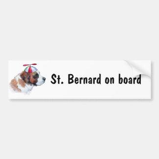 St Bernard a bordo pegatina para el parachoques Pegatina Para Auto