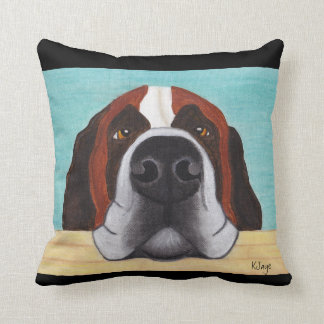 St. Bernard Art - Can You Resist That Face? Throw Pillow