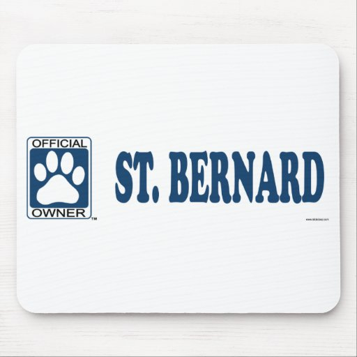 ST. BERNARD_Blue Alfombrillas De Ratones